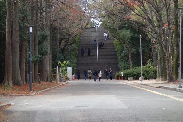 大阪城までの景色1