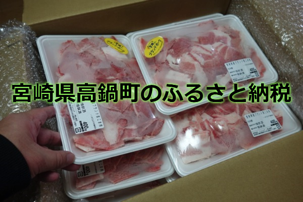 宮崎県高鍋町のふるさと納税は豚肉大量2