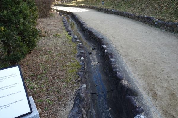 湯築城跡、排水口