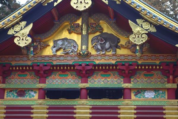 日光東照宮の「想像の象」