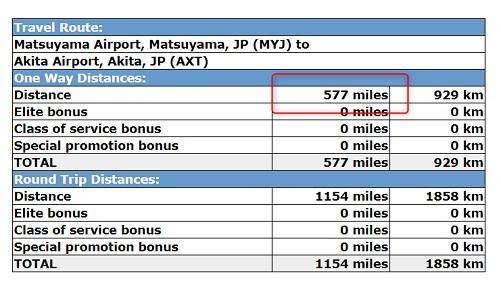 空港間の距離(マイル)を計算2