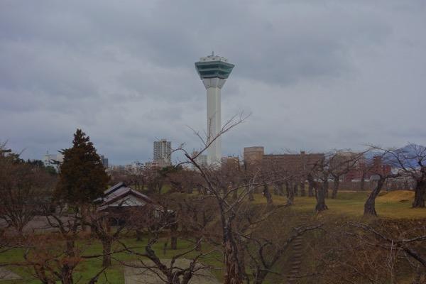 五稜郭、4月は桜が咲いていない1
