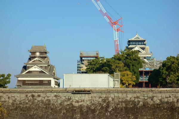 熊本城の宇土櫓&大小天守