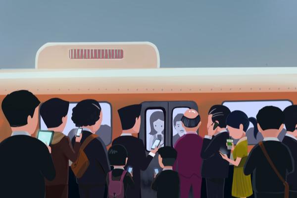 満員電車 つらい